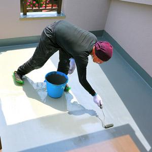東大阪市のガイナ屋根・外壁塗装専門店-ペイント一番:ベランダ防水実績