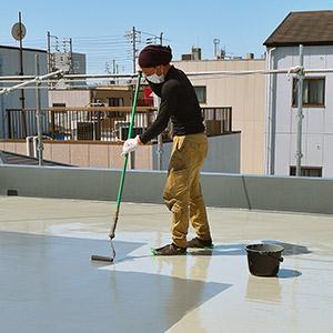 東大阪市のガイナ屋根・外壁塗装専門店-ペイント一番:屋上防水実績