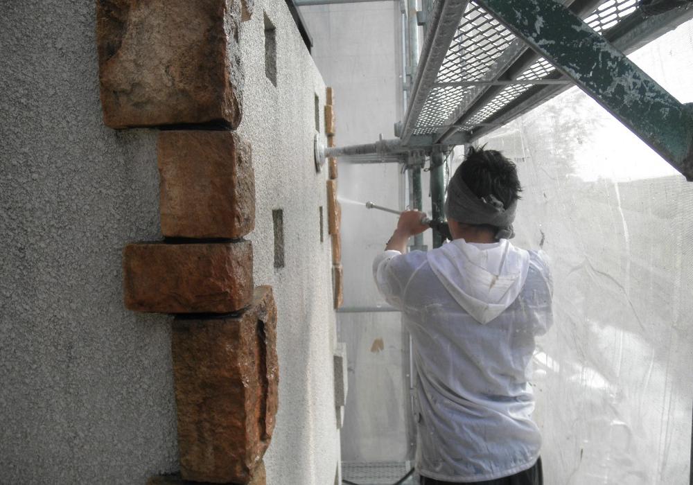モルタル外壁洗浄
