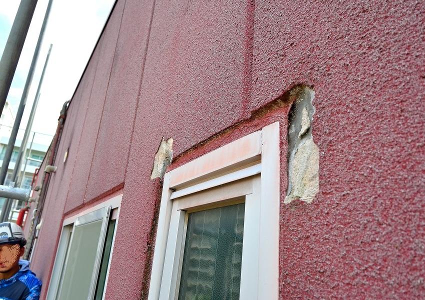 ALC外壁塗装前剥離