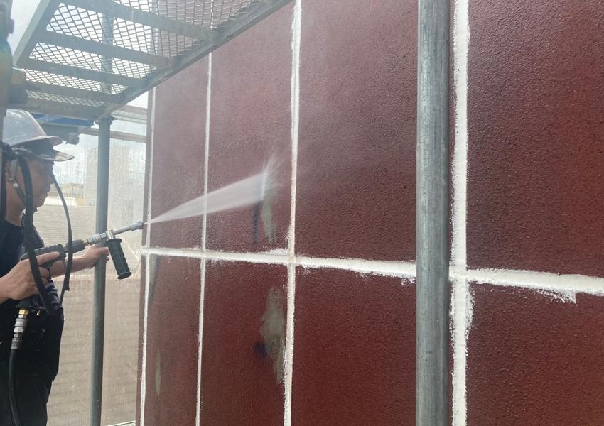 ALC外壁高圧洗浄