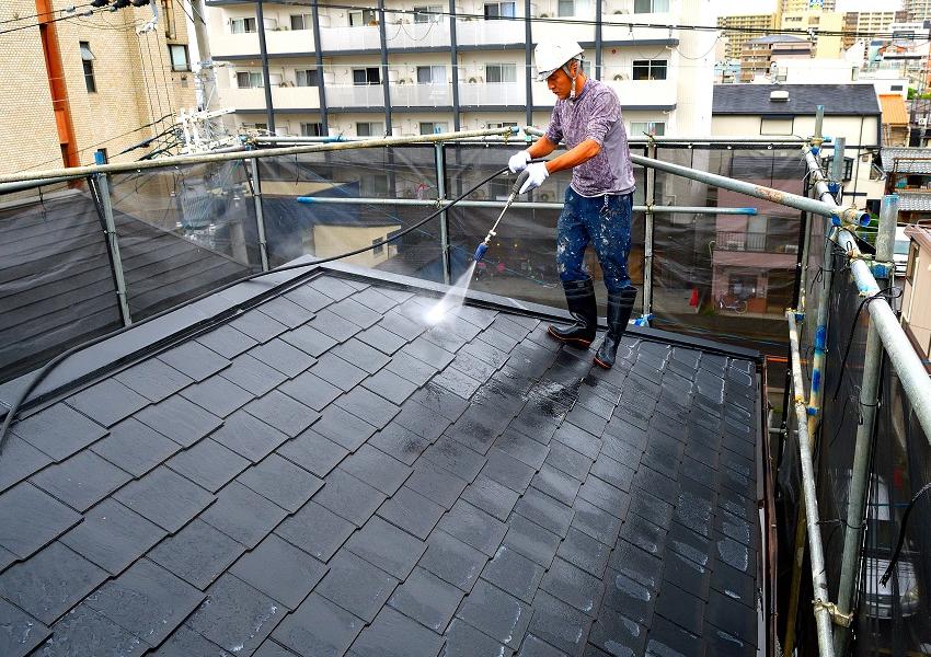 高圧洗浄屋根