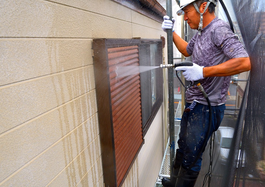 高圧洗浄雨戸