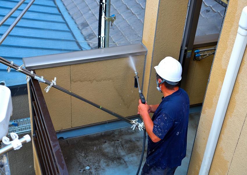 高圧洗浄外壁